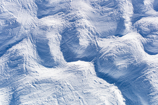 Ski Moguls on Slopes