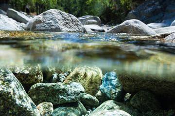 Rocky river floor