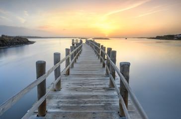 Morning sunrise over the dock