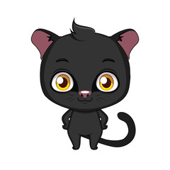 Cute stylized cartoon panther illustration ( for fun educational purposes, illustrations etc. )