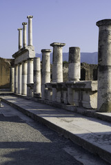 View of Temple at Pompeii