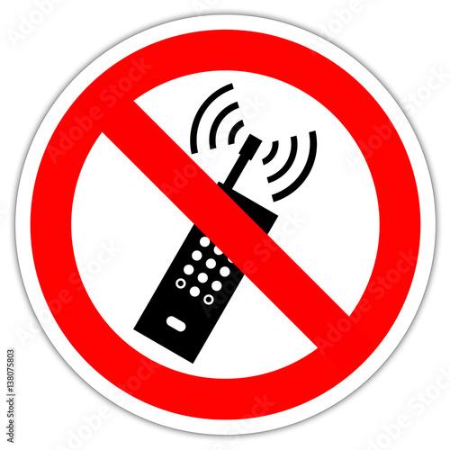 panneau t l phone portable interdit photo libre de droits sur la banque d 39 images. Black Bedroom Furniture Sets. Home Design Ideas