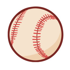 Funny and cute baseball ball - vector.