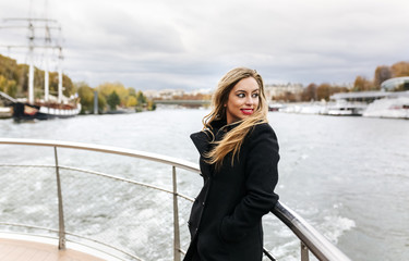 Paris, France, portrait of woman taking a cruise on Seine River