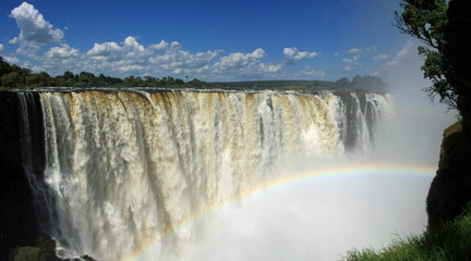Victoria Falls, Main Falls with Rainbow