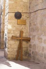 Station 9 Cross of Jesus Christ  in Via Dolorosa, Jerusalem Old City, Israel