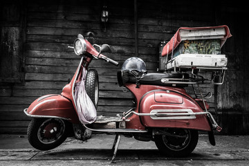 Classic old fashion vintage style motorcycle