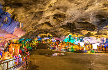 Interior of the Ramayana Cave at Batu Caves complex, Kuala Lumpur, Malaysia