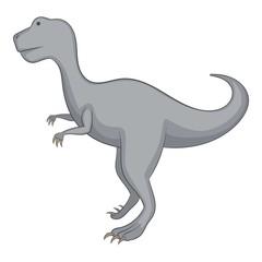 Allosaurus icon, cartoon style
