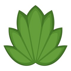 Lotus leaf icon, cartoon style