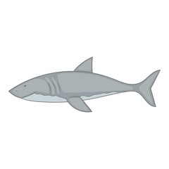 Shark icon, cartoon style