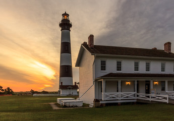 Sunrise at Bodie Lighthouse in the Cape Hatteras National Seashore