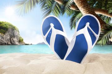 flip flops and beach