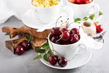 Fresh red sweet cherry