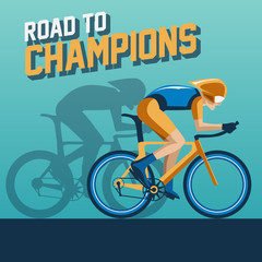 cycling road to champions background