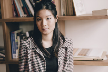 Portrait of young asian business woman