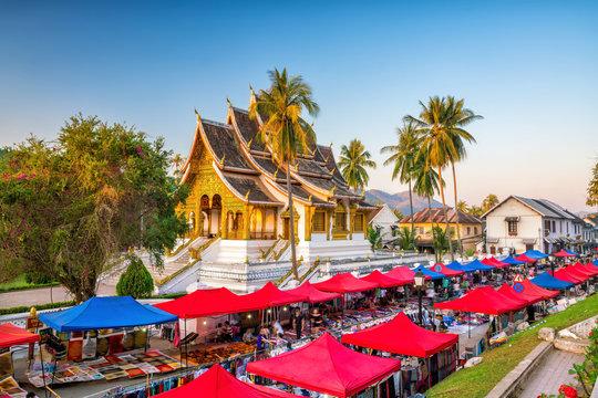 The night market in Luang Prabang