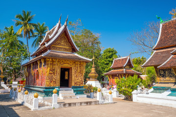 Wat Xieng Thong, the most popular temple in Luang Pra bang