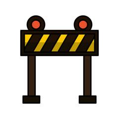 fence lights construction icon vector illustration design