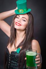 St. Patrick's woman. St. Patrick concept