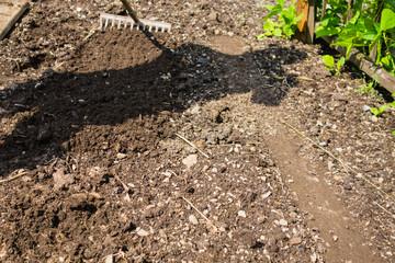 Den Garten umgraben