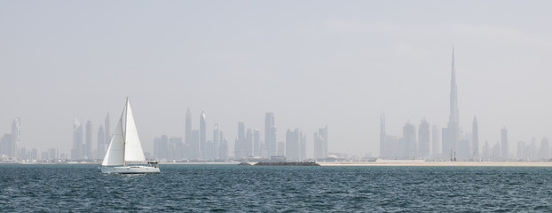 Offshore sailing in Dubai