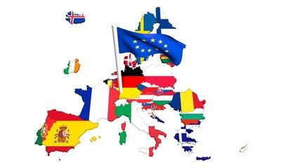 Construction Européenne Europe Drapeaux Brexit