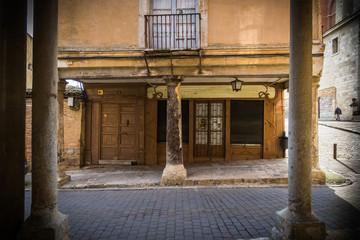 Soportales en la ciudad de Medina del Campo España