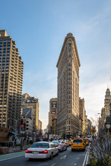Foto op Canvas New York TAXI Flatiron Building - New York City, USA