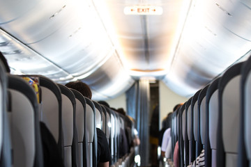 Interior of a brand new airplane