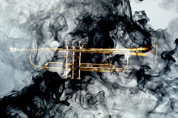 Trumpet Abstract Jazz Smoke