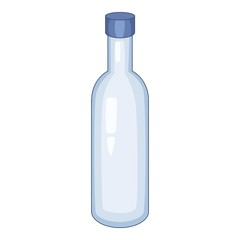 Milk bottle icon, cartoon style
