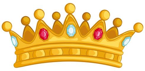 Goldene Krone mit Edelsteinen - Vektor-Illustration