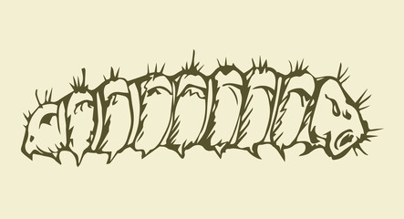 Vector illustration. Caterpillar