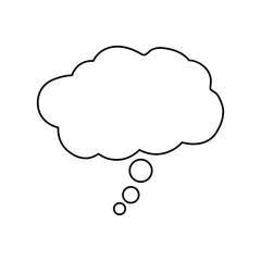 Dream bubble symbol icon vector illustration graphic design