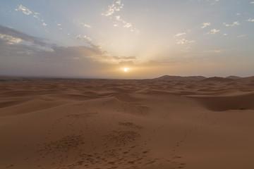 Deserto con Tramonto colorato