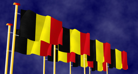 Belgian flags