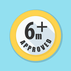 Six month baby Approved sign Illustration