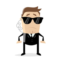 secret agent cartoon man