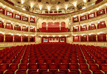 Photo sur cadre textile Opera, Theatre Empty auditorium in the great theatre