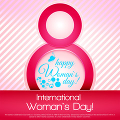 8 March international women's day isolated on pink background. G