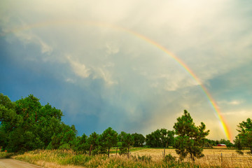 Wall Mural - Just Another Colorado Country Rainbow