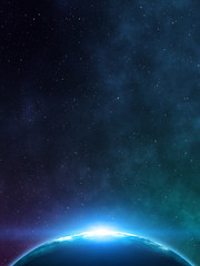 Space background. 3D rendering