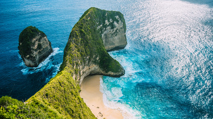 Canvas Prints Bali Manta Bay or Kelingking Beach on Nusa Penida Island, Bali, Indonesia