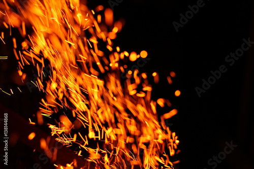 Abstract texture  Fire flames on a black background  Add as