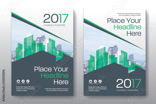 Business Book Cover Quest : Quot green color scheme with city background business book