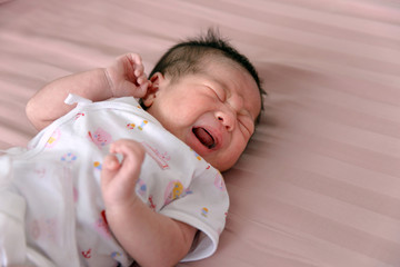 Asian Newborn Baby Crying