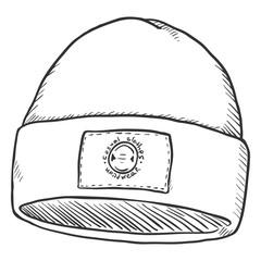 Vector Sketch Winter Sport Cap