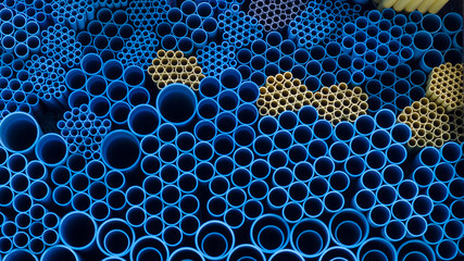 Water pvc pipes background pattern