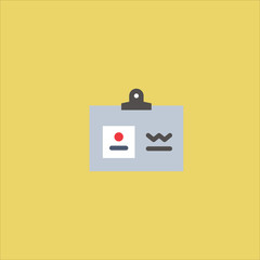 business card icon flat design